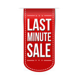 Last minute sale banner. Design over a white background, vector illustration vector illustration