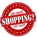Last minute shopping. Stamp with text last minute shopping inside,  illustration Stock Photo