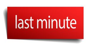 Last minute sign. Last minute square paper sign isolated on white background. last minute button. last minute royalty free illustration
