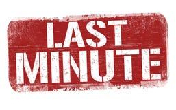 Last minute sign or stamp. On white background, vector illustration vector illustration
