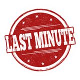 Last minute sign or stamp. On white background, vector illustration royalty free illustration