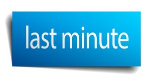 Last minute sign. Last minute square paper sign isolated on white background. last minute button. last minute vector illustration