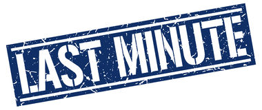 last minute square stamp Stock Photography