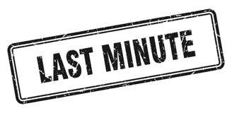 last minute stamp stock illustration