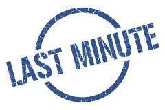 Last minute stamp. Last minute round grunge stamp. last minute sign. last minute royalty free illustration