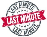 Last minute stamp. Last minute round grunge vintage ribbon stamp. last minute vector illustration