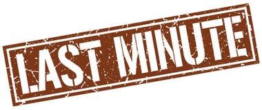 Last minute stamp. Last minute square grunge sign isolated on white. last minute stock illustration