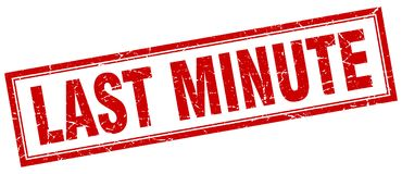 Last minute stamp. Last minute square grunge stamp. last minute sign. last minute royalty free illustration