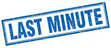 Last minute stamp. Last minute square grunge stamp. last minute sign. last minute vector illustration