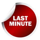 Last minute sticker. On white background royalty free illustration