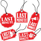Last minute tag set, vector illustration Royalty Free Stock Photography
