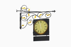 Last minute. Time clock approaching zero and underneath a sheet that can display different texts royalty free illustration