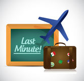 Last minute travel concept illustration design Stock Photos