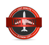 Last minute travel concept symbol seal Stock Photo
