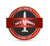 Last minute travel concept symbol seal. Illustration design over a white background royalty free illustration