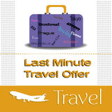 Last minute travel offer Stock Image