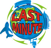 Last minute - vacation. Trip with a travel agency around the world, holiday period royalty free illustration
