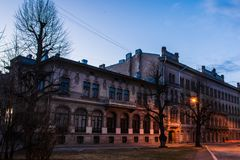 The architecture of the old Vyborg royalty free stock images