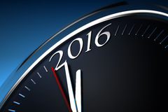 Last Minutes to 2016. (Computer generated image stock illustration