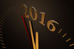 Last Minutes to 2016 Royalty Free Stock Image