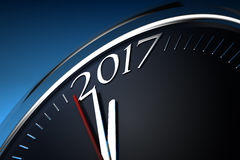 Last Minutes to 2017. Computer generated image Royalty Free Stock Photography