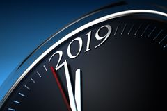 Last Minutes to 2019 Stock Image