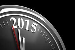 Last Minutes to 2015 Stock Photo