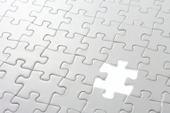 Last missing puzzle piece. Stock Photography