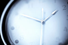 The last moment. Close up of a clock on a black background Royalty Free Stock Photo