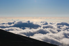 Last moments of daylight on Haleakala Stock Images