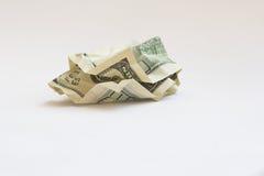 Last money. Crumpled dollars Stock Photography