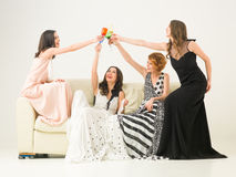 Last night of beeing a bachelorette Stock Images