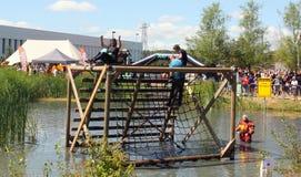 Last obstacle of the KardingeRun. Groningen Stock Images