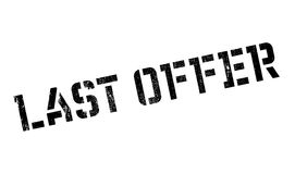 Last Offer rubber stamp. Grunge design with dust scratches. Effects can be easily removed for a clean, crisp look. Color is easily changed Stock Image