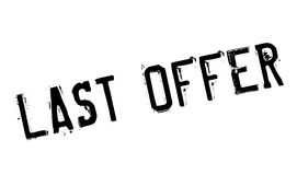 Last Offer rubber stamp. Grunge design with dust scratches. Effects can be easily removed for a clean, crisp look. Color is easily changed Royalty Free Stock Photo