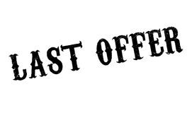 Last Offer rubber stamp. Grunge design with dust scratches. Effects can be easily removed for a clean, crisp look. Color is easily changed Royalty Free Stock Images