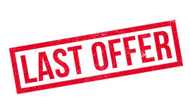Last Offer rubber stamp. Grunge design with dust scratches. Effects can be easily removed for a clean, crisp look. Color is easily changed Stock Images