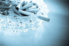 The Last One. The Last Cigarette With Abstract Treatment For Mood Stock Images