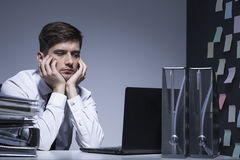 Last one to leave the office Stock Image