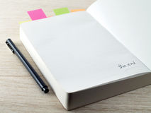 The last page of diary Stock Photography