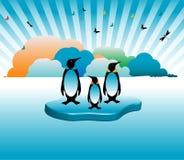 The last penguin family Stock Photo