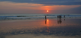 Last Photo of the Day on Legian Beach, Bali Royalty Free Stock Photo