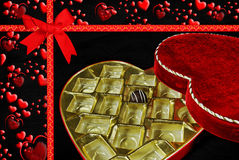 Chocolate Valentine candy Royalty Free Stock Photography