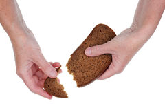 Last piece of bread Stock Images
