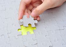 The last piece of jigsaw puzzle Royalty Free Stock Photos