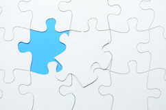 Last piece of jigsaw puzzle Stock Image