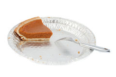 Last piece of pumpkin pie Royalty Free Stock Image