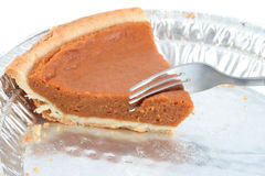 Last piece of pumpkin pie Royalty Free Stock Photography