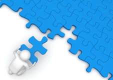 Last piece of the puzzle Royalty Free Stock Photo