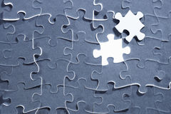 Last piece of puzzle Royalty Free Stock Photo